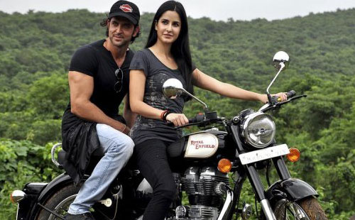 Indian Bollywood personalities Katrina Kaif (R) and Hrithik Roshan (AFP/File)