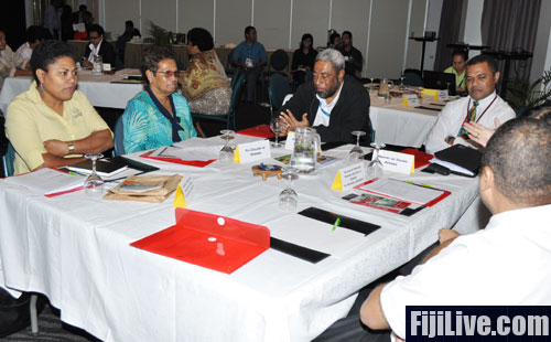 Officials at the consultation meeting on Review of Ministry of Health's National Training Policy today in Suva.Photo: Kunal Keshneel.