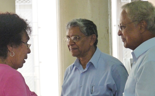Fiji Labour Party leader, Mahendra Chaudhry at the Suva Civic Centre today. Photo: Courtesy of Constitution Commission