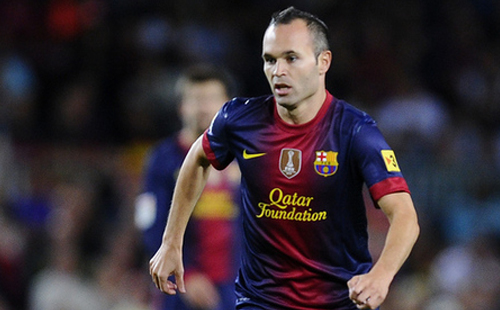 Iniesta sidelined for up to two weeks