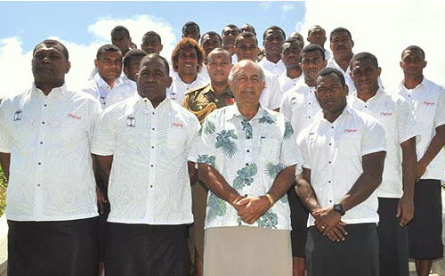 Fiji President blesses 7s gladiators