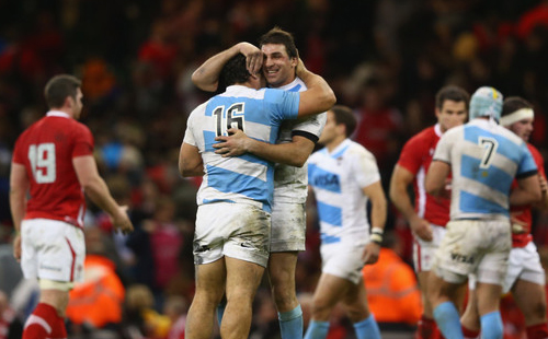 Pumas celebrate Welsh win in style